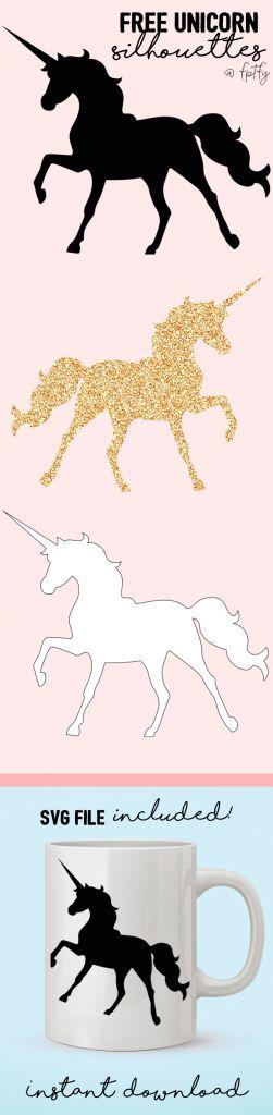 free unicorn silhouettes