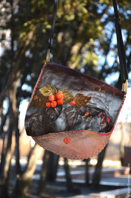 Женские сумки ручной работы. Ярмарка Мастеров - ручная работа Сумочка Ягодная. Handmade.