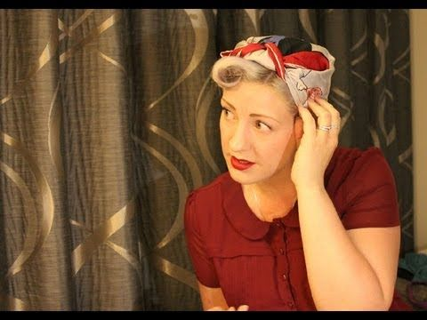 More Authentic 1940s Head Scarf