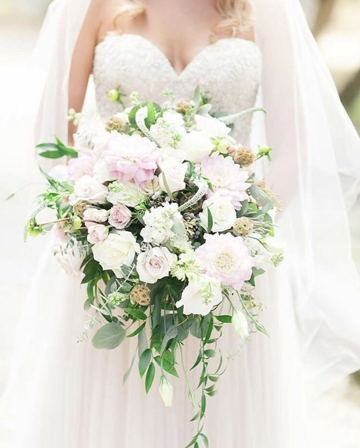 Fresh White Flower Wedding Bouquet With Greenery From HEB