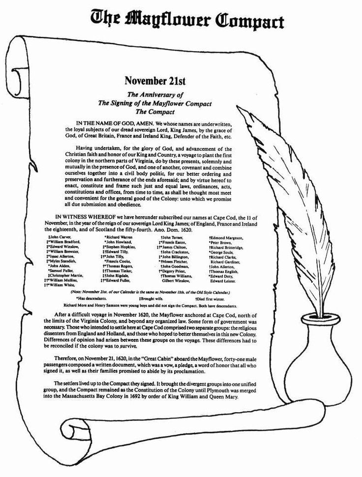 mayflower compact coloring pages - photo#26