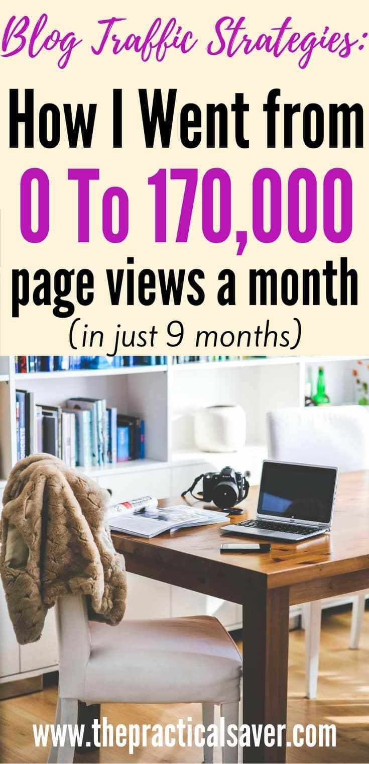 How I went from 0 to 170,000 page views a month (in just nine months)
