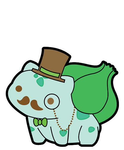 Bulbasaur Pokemon Like a Sir Sticker Cute Funny Gentlemon Anime Manga Decal Steampunk USA