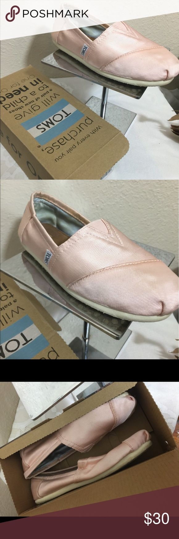 Pink TOMS Ballerina Flats in Box SZ 7 Pink Tom's Ballerina Flats in Box SZ 7 worn a couple times then stored back in box. See pictures for complete description. 💖🌺🌸30% off when you bundle TOMS Shoes Flats & Loafers