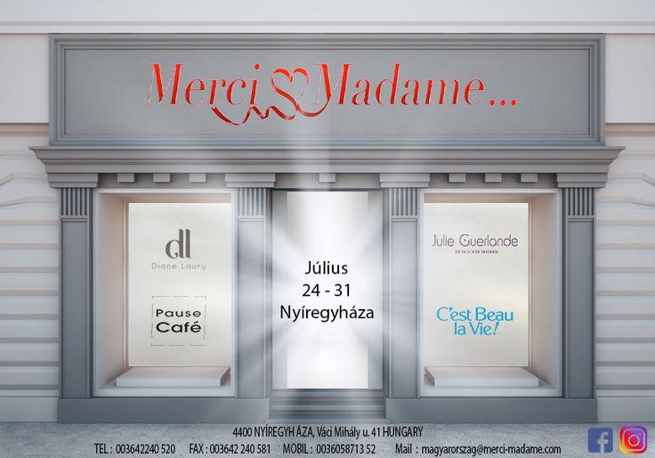 Francia márkák nyári kollekcióinak bemutatója Nyíregyházán🇭🇺2017. 07. 24. és 07. 31. között! Ha Önnek is van butikja, jöjjön el és győződjön meg arról, hogy a párizsi divat és elegancia egy karnyújtásnyira van Öntől! 😊