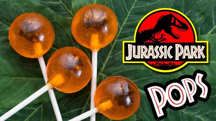 JURASSIC PARK AMBER FOSSIL LOLLIPOPS - NERDY NUMMIES These would be amazing for a paleontology party, too!