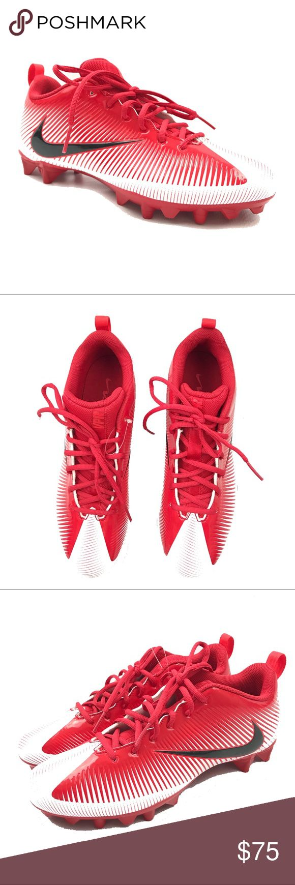 Nike Size 12 Mens Football Cleats VPR Red New New without box Nike Shoes Athletic Shoes