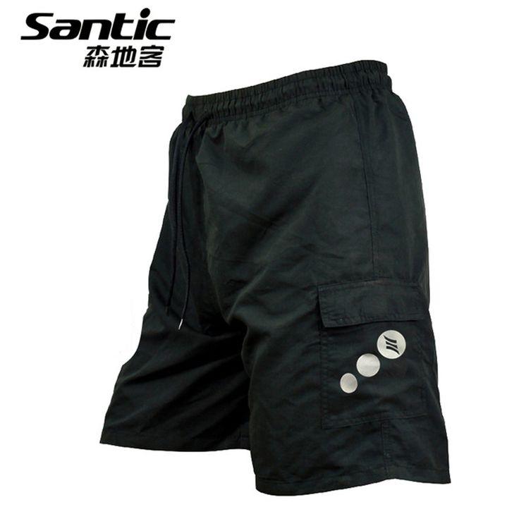 Santic Cycling Shorts Anti-sweat Gel Pad Bicycle Shorts Downhill Underwear MTB Mountain Bike Shorts Men Riding Cycling Shorts 50