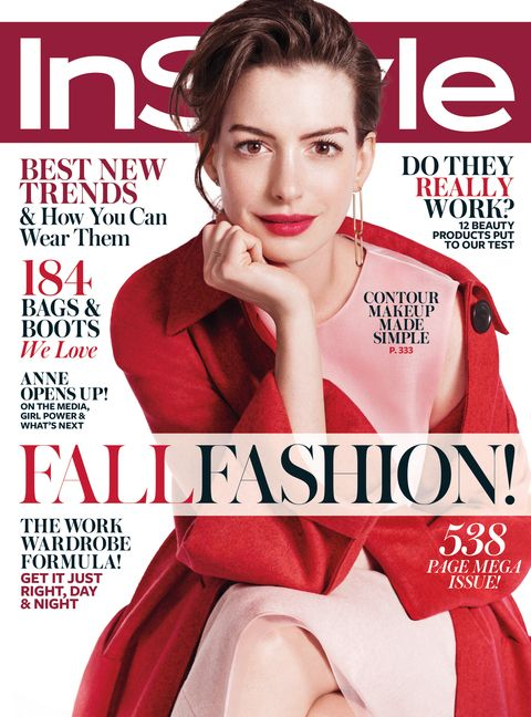 InStyle's September 2015 issue featuring cover star Anne Hathaway.