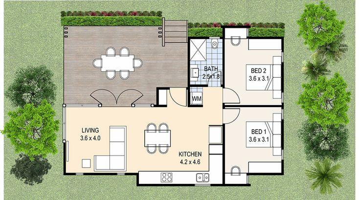 73 best casas images on Pinterest Floor plans, Home ideas and - plan maison plain pied 80m2