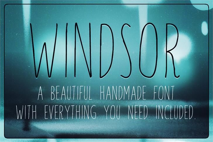 Windsor font by Skyhaven - FontSpace