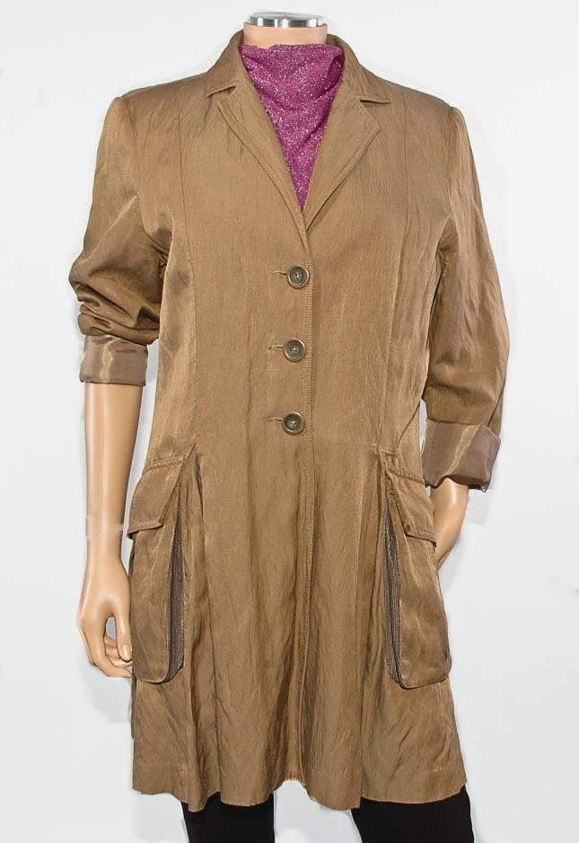 "~CAbi~ #840 ""Treasure Hunter"" Victorian Steampunk Bronze Brown Coat, Large #CAbi #BasicCoat"