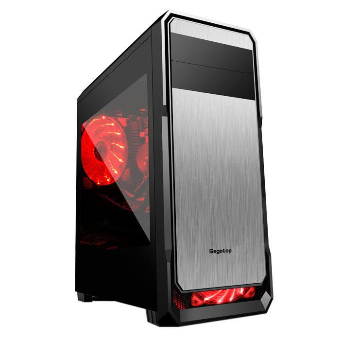 Segotep PC Computer Gaming tower Case Support ATX / M-TX / ITX Black US STOCK