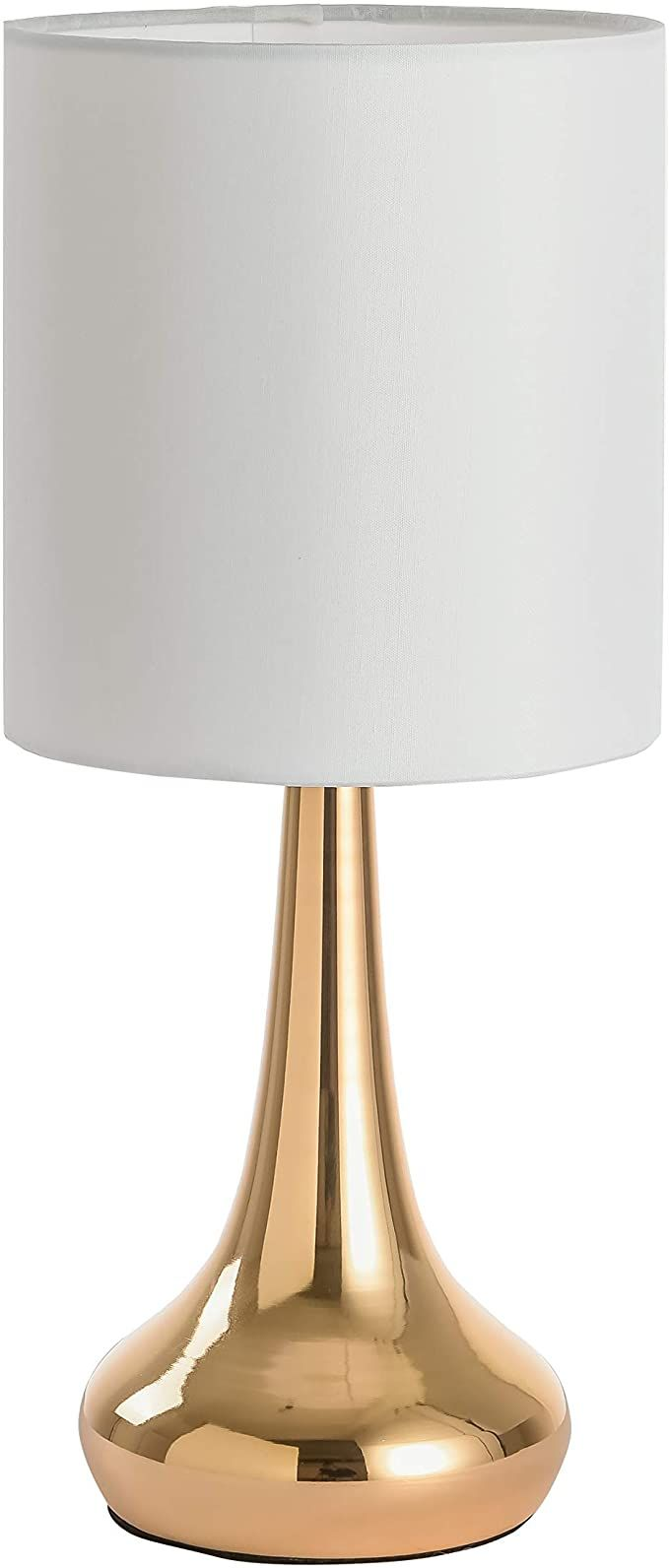 Ferwvew Modern Small Gold Nightstand Lamps Bedside End Table Lamp Accent Desk Lamp With White Shade Metal Base Night Lighting Nightstand Lamp Table Lamp Lamp
