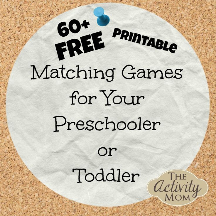 free printable matching games for preschoolers and toddlers