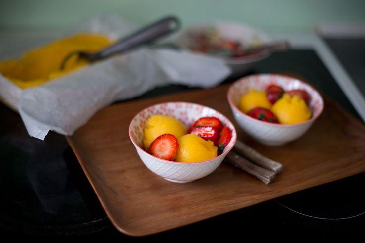 Opskrift: Mangosorbet
