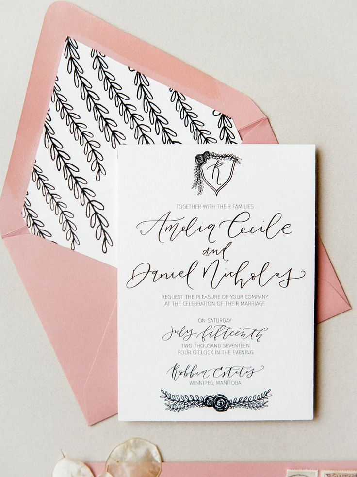 """""""The Regal Suite""""   Semi-custom wedding invitation by Jennifer Bianca Calligraphy   Photo by Brittany Mahood"""