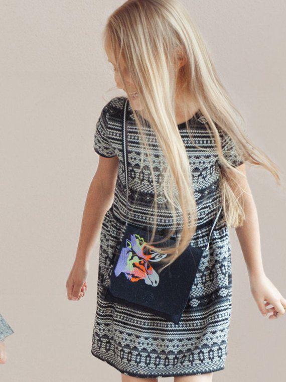 Felt Bag Kids Small Crossbody Toddler Purse Messenger Children Handbag Handbags Shoulder Moose Crossbodybag