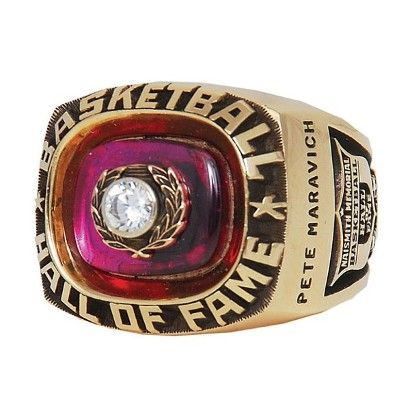 Maravich's Hall of Fame ring brings $89,000 to Grey Flannel Auctions