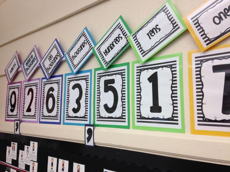 Classroom Place Value Chart {Freebie!}