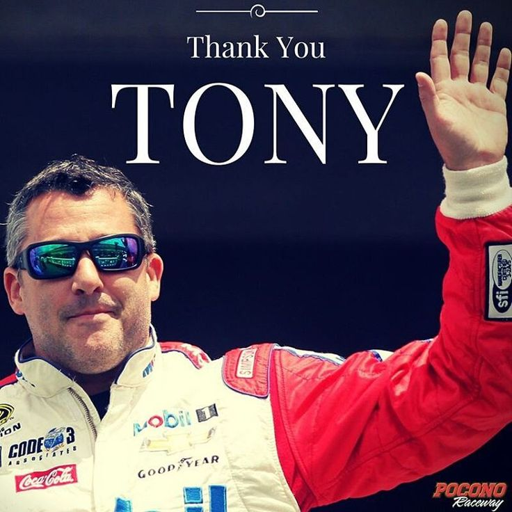 "Thank you @tsrsmoke for everything you have contributed to @nascar as a driver. You have always been so supportive of our track and everyone in our extended track family, especially to our founders Drs. Joseph ""Doc"" and Rose Mattioli. We know your racing legacy will only continue to grow as an owner of @stewarthaasracing and we look forward to seeing you at Pocono Raceway for many years to come. Good luck in your 'final' ride today! #AlwaysRac14g"