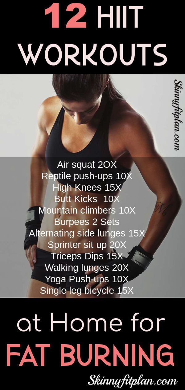 12 Hiit Workouts at Home for Fat Burning