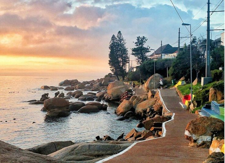 Near Fish Hoek beach, there is a little path decorated by lego benches that leads to a secluded and beautiful rock pool. To escape the crowds and swim amongst the sea anemone and starfish, take a stroll down Jager's Walk.fish hoek