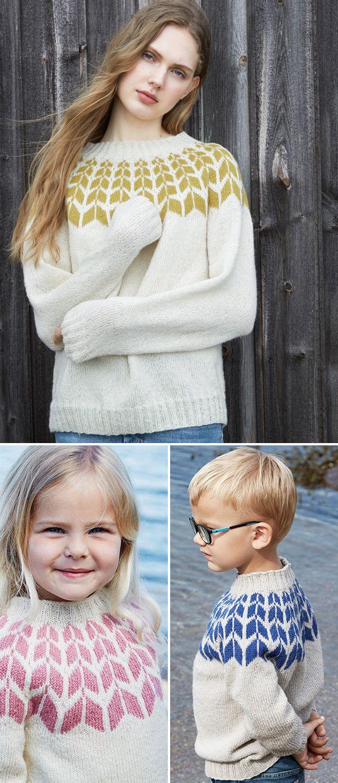 PILGENSER til barn og dame. Garnpakke fra Rauma Garn.