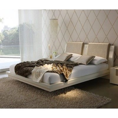 Rossetto Diamond 6-Pce Queen Bedroom Set in Ivory SAVE $2000- $2500