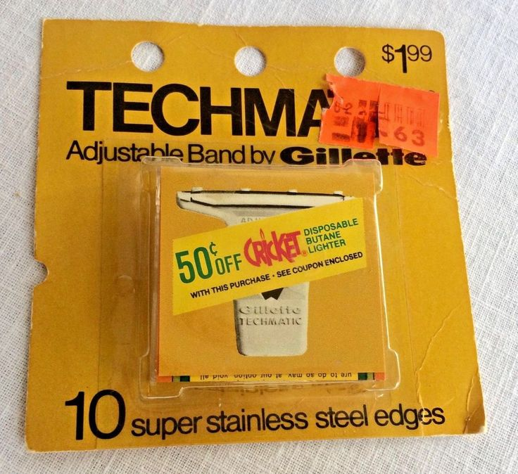Gillette Techmatic Razor Band 10 Super Stainless Steel Edges Sealed Pkg NOS #Gillette
