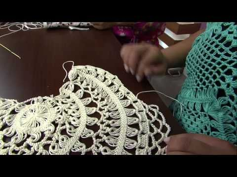 Crochet horquilla con distinto diseños en el centro - YouTube