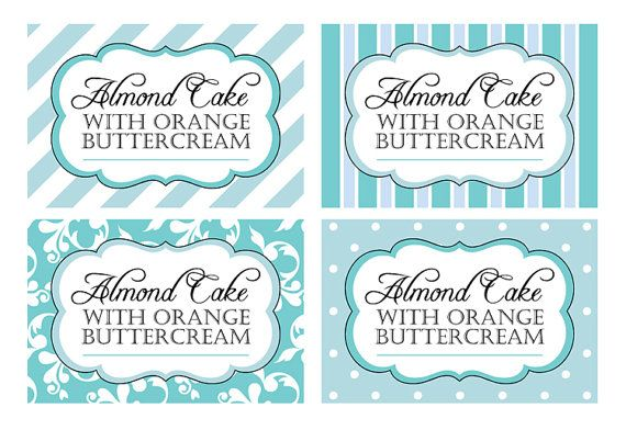 Printable Candy Buffet Labels For Wedding Or Shower