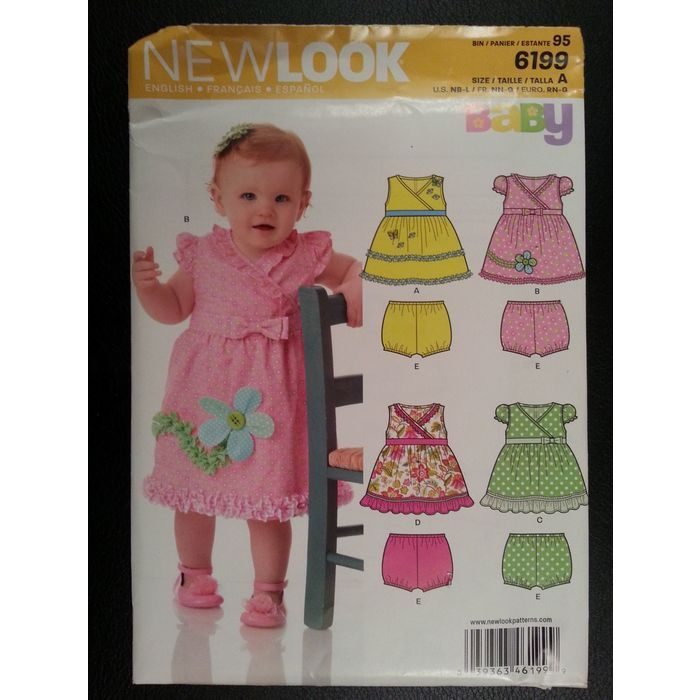 New Look 6199 Baby Sundresses and Panties sewing pattern sizes Newborn - Large Listing in the Childrens,Sewing,Patterns,Sewing,Crafts, Handmade & Sewing Category on eBid Canada | 151886697