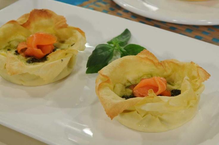 Lasagnette con pesto e salmone autor paula brandani for Utilisima cocina