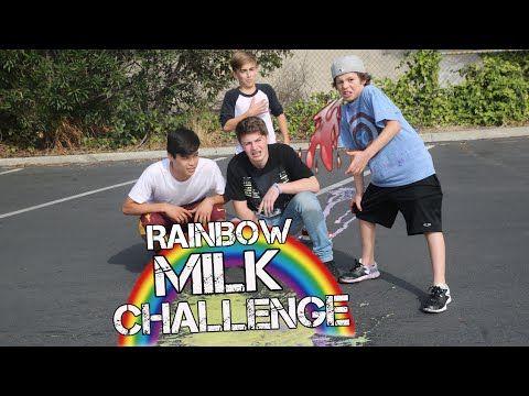 RAINBOW MILK CHALLENGE | w/ HAYDEN, DYLAN & NIC
