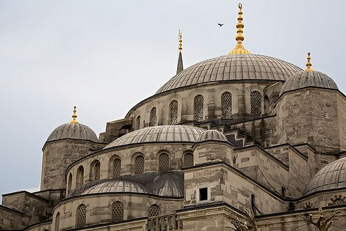 The roof of the Blue Mosque in Istanbul, Turkey. by cookiesound, via Flickr