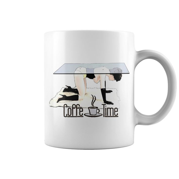 Coffe Time In Dirty BDSM Bondage style funny adult cartoon clipart mug design #Naughty #erotic #dirty #mature