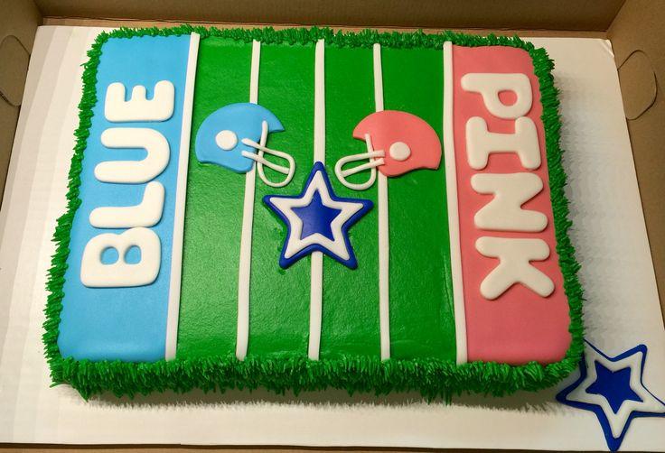 Dallas cowboys football gender reveal cake cakes