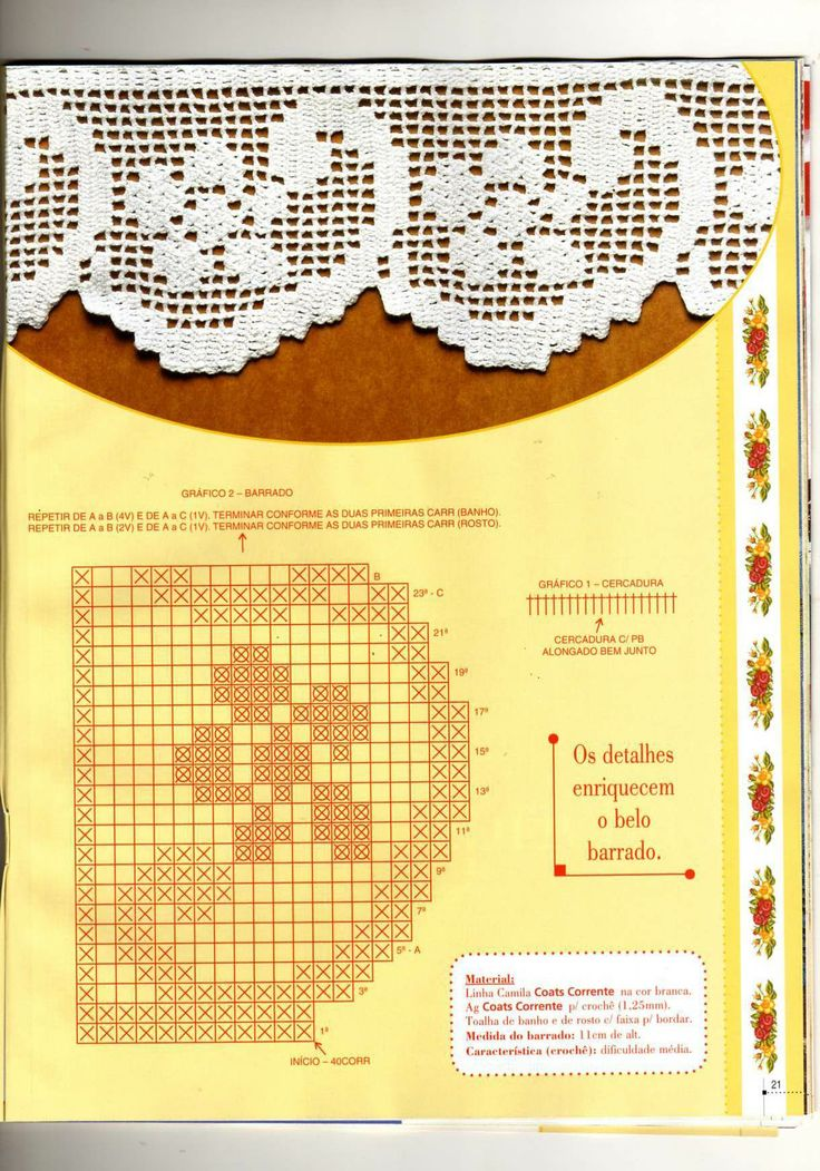 Ganchillo vertical Filet crochet