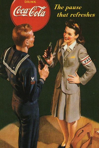 A Coca-Cola advertisement with a sailor and USO. Thought this was cool.