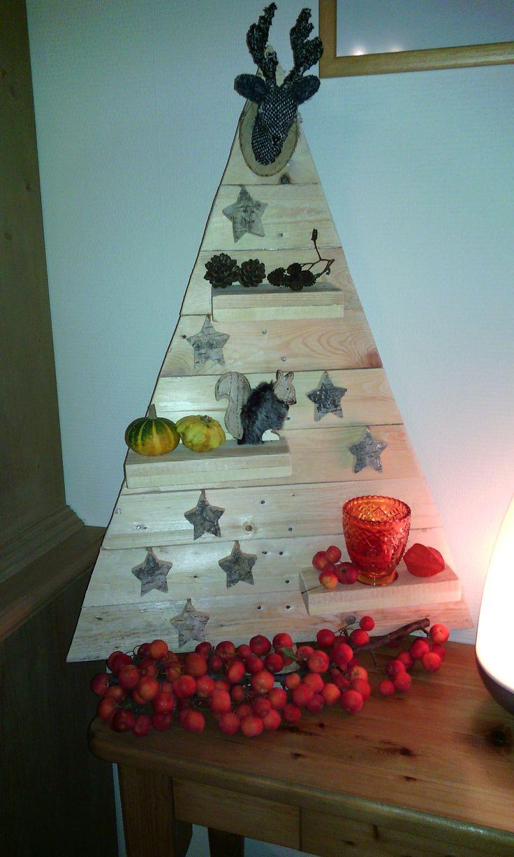 Kerstboom om zelf te maken. Deze heb ik laten maken door een bijzonder persoon !