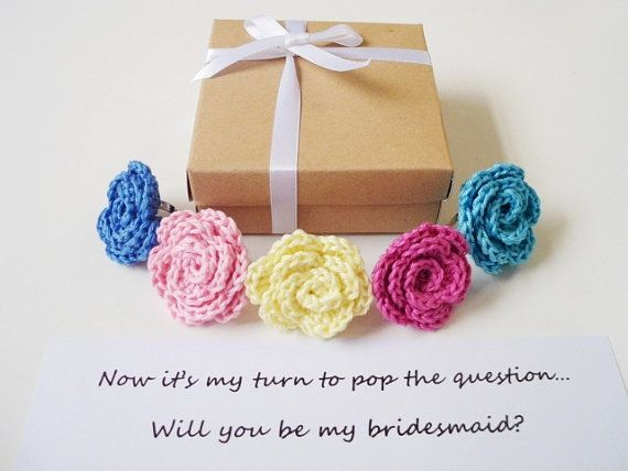 Matron of honor gift Will you be my Bridesmaid by prettyobject