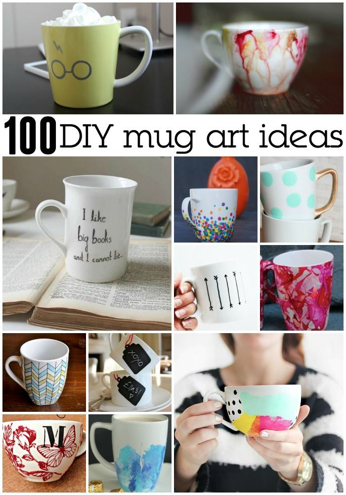 Dropped my favorite mug! So, I'm creating a new mug based on these 100 Awesome DIY Mug Art Creations.