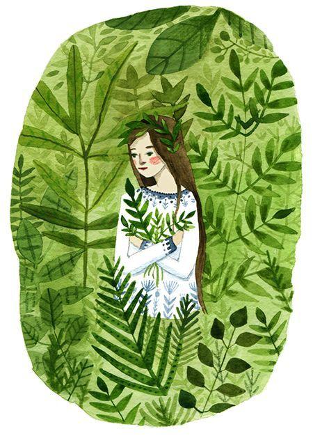 Zum Handwerk der Illustratorin Abigail Halpin gehören auch Papercuts, Stickereien, Geschirrdekor und Textildesign dazu. Heute im Pinterest Pinner Interview:
