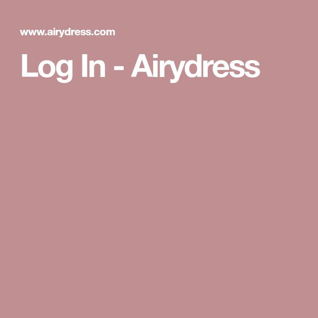 Log In - Airydress