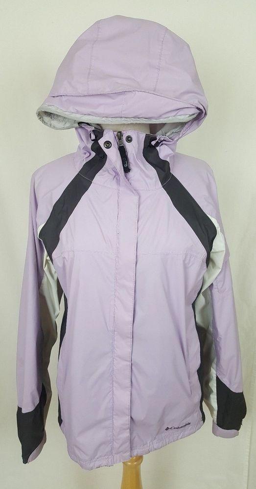 Columbia Sportswear Teen Purple White Winter Coat Hooded Jacket Waterproof XL #Columbia #WinterJacket
