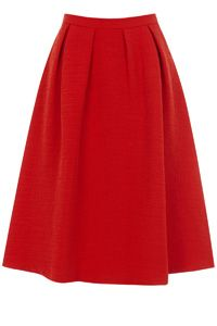Oriental Jacquard Midi Skirt