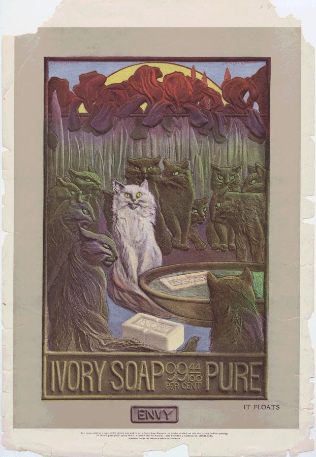 These 1900 #MuseumCats can be found in our Ivory Soap Advertising Collection, 1883-1998.
