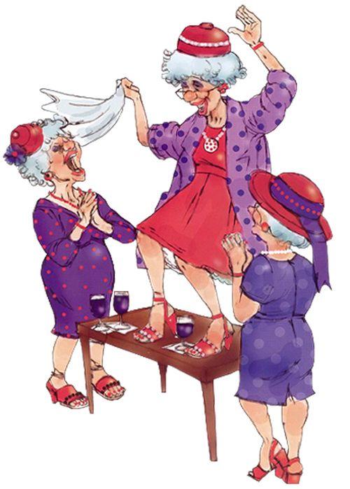 смешные картинки танцующих старушек использовать