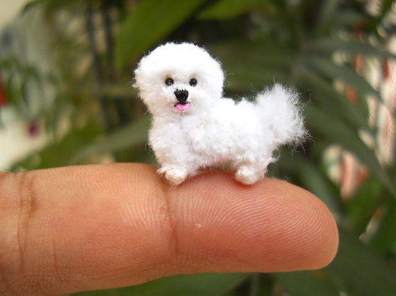 Bichon frisé  animaux en peluche de chien Miniature par SuAmi